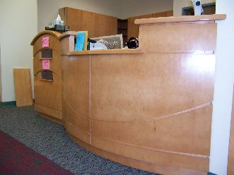 Custom Wood Reference Desk