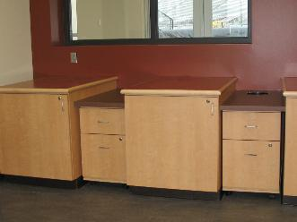 Custom Plastic Laminate Casework, Plastic Laminate Roll Out Carts, Solid Surface and Plastic Laminate Countertops